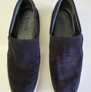 Vince Black Suede Slip-On Shoes US Men 8M /EU 39